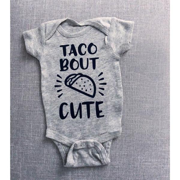 cute, tacoonesie, babyromper, babyboyonesie