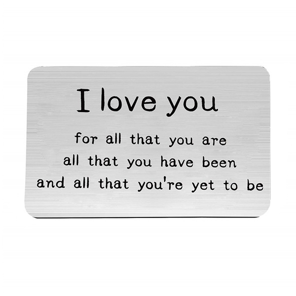 All Youre Yet To Be Personalized Wallet Card Insert