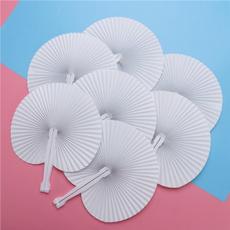 foldingfan, paperfansdecor, roundfanset, painting
