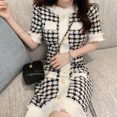 short sleeve dress, Plaid Dress, Sleeve, women dresses