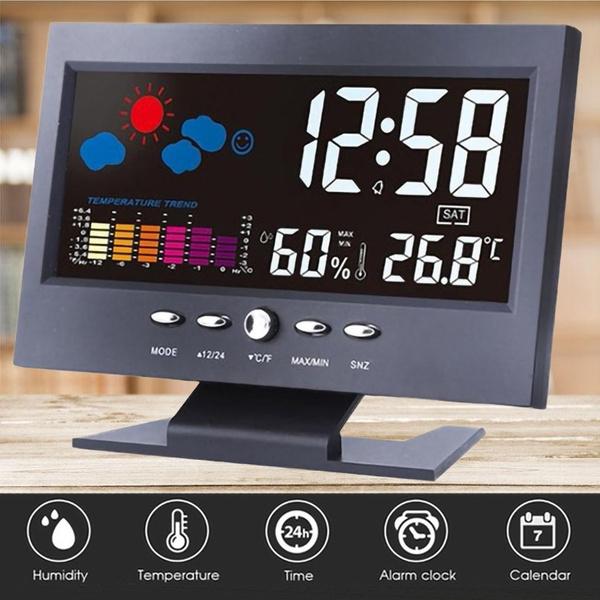 weatherstationclock, humidityclock, Indoor, Office