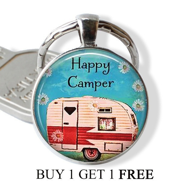 campingkeychain, Key Chain, Jewelry, Gifts