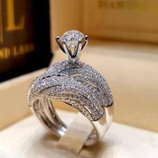 Antique, Sterling, DIAMOND, Bridal