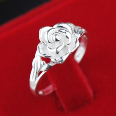 Sterling, Fashion, Jewelry, Rose