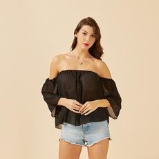 Fashion, Shirt, Halter, Long Sleeve