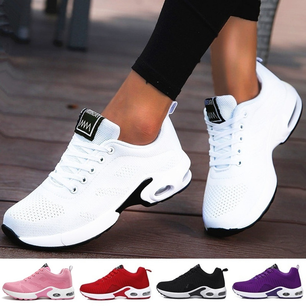 FINECCXS Women's Fashion Air Cushion Sports Running Shoes Breathable  Comfortable Tennis Shoes Lightweight Sneakers Shoes   Wish