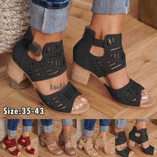 Summer, Fashion, Women Sandals, Buckles