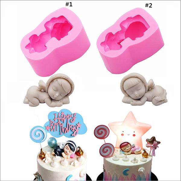 babysleepingmold, Angel, polymermould, cake mold
