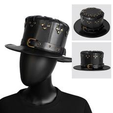gentlemenhat, bowler hat, Goth, vintagehat