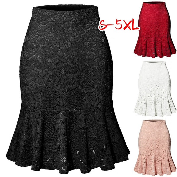 Summer, Plus Size, Elastic, Lace