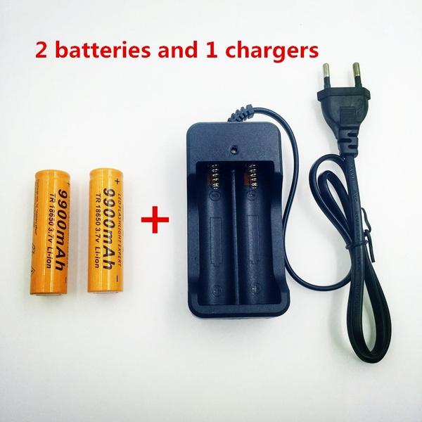 Flashlight, 18650battery, led, Battery