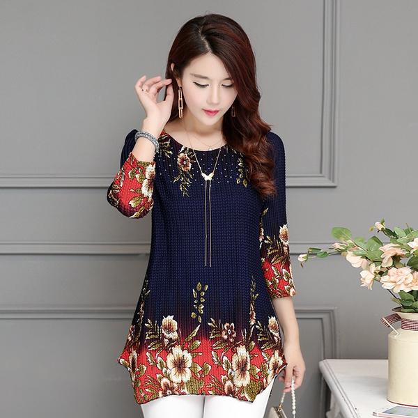 blouse, Plus Size, Floral print, Shirt