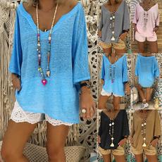 Plus Size, Shirt, Women Blouse, Vintage