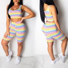 Mini, Shorts, crop top, Colorful