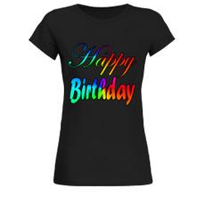 Womens T Shirts, T Shirts, Birthday, black