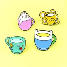 cartoontvpin, cupbrooch, Pins, cute