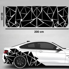 Car Sticker, Decor, Triangles, matte