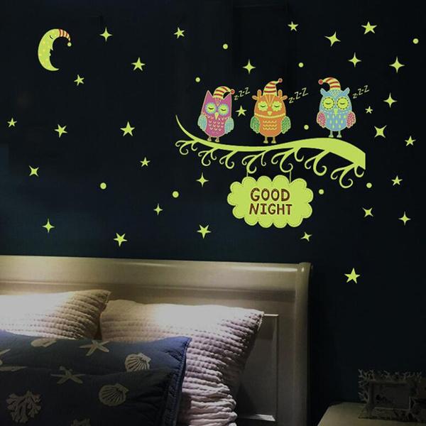 Owl, luminousfluorescent, Home Decor, lights