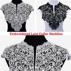 laceapplique, Neckline, Lace, laceflower