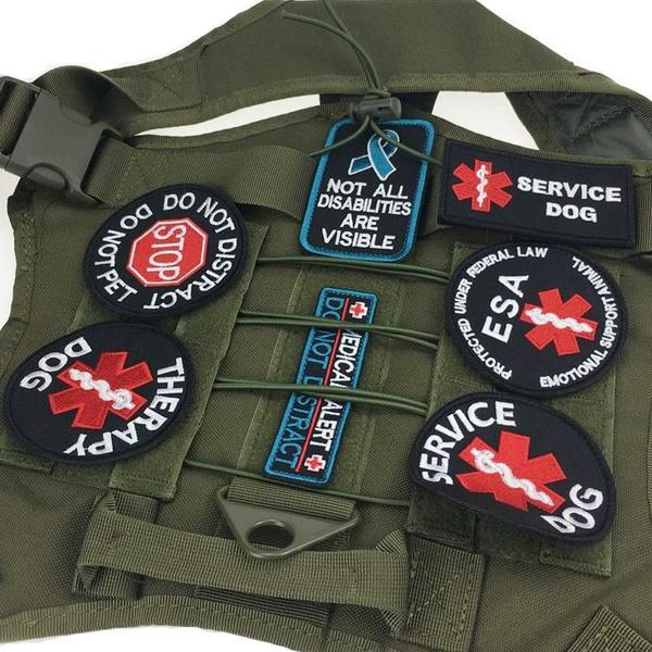 Vest, hookamplooppatch, badgeholder, therapydog