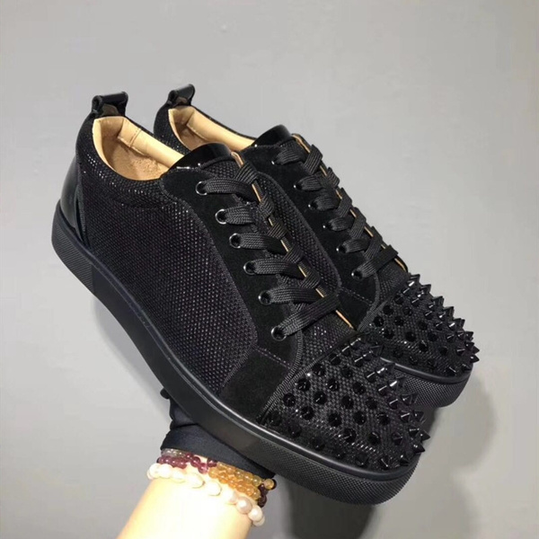 Mens Flat Sneakers Fashion Spikes Mens