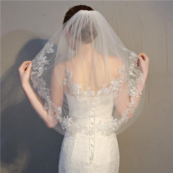 Lace, headwear, whiteveil, brideveil