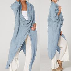 cowlnecktop, Plus Size, Women Blouse, Long Sleeve