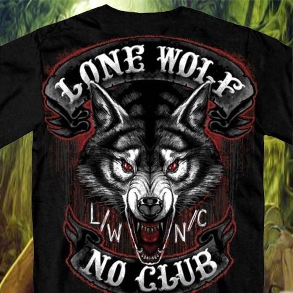 Fashion, lonewolfshirt, motorcycleshirt, Club