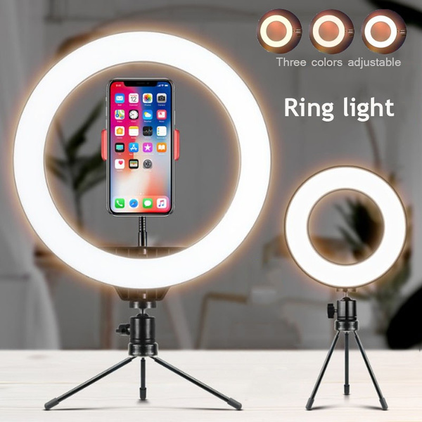 OUYAWEI Top Dimmable LED Studio Camera Ring Light Photo Phone Video Annular Lamp