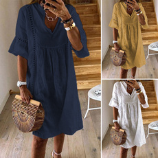 candycolordres, Necks, Hollow-out, sundress