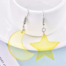 moonearring, cute, Star, Jewelry