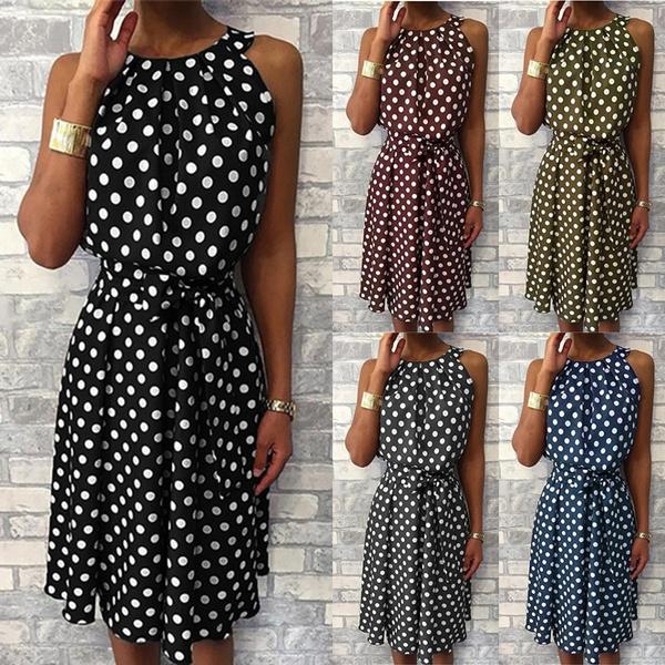 Summer, Plus Size, Necks, Dress