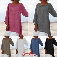 Cotton, Plus Size, long sleeve blouse, Sleeve
