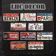 city, Decor, licenseplate, metalpainting