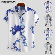 Flowers, beachshirt, Sleeve, Breathable
