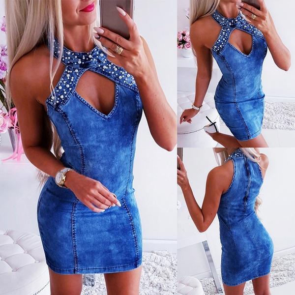 denim dress, Mini, Shorts, halter dress