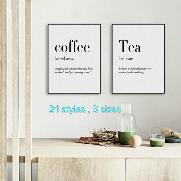 1 Pc Canvas House Spray Black And White Beer Coffee Wine Modern Wall Pop Art Painting Prints Home Decor Modular Hang Pictures Poster Wish