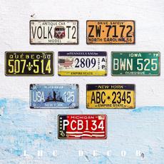Decor, licenseplate, metalsignplate, Home Decor