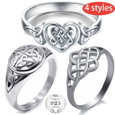 Sterling, Celtic, Fashion, Jewelry