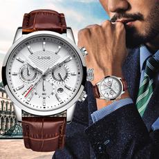brown, quartz, gentswatche, Casual Watches