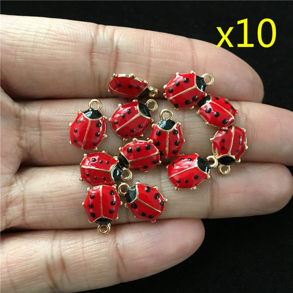 Craft Supplies, ladybug, diy, diybracelet