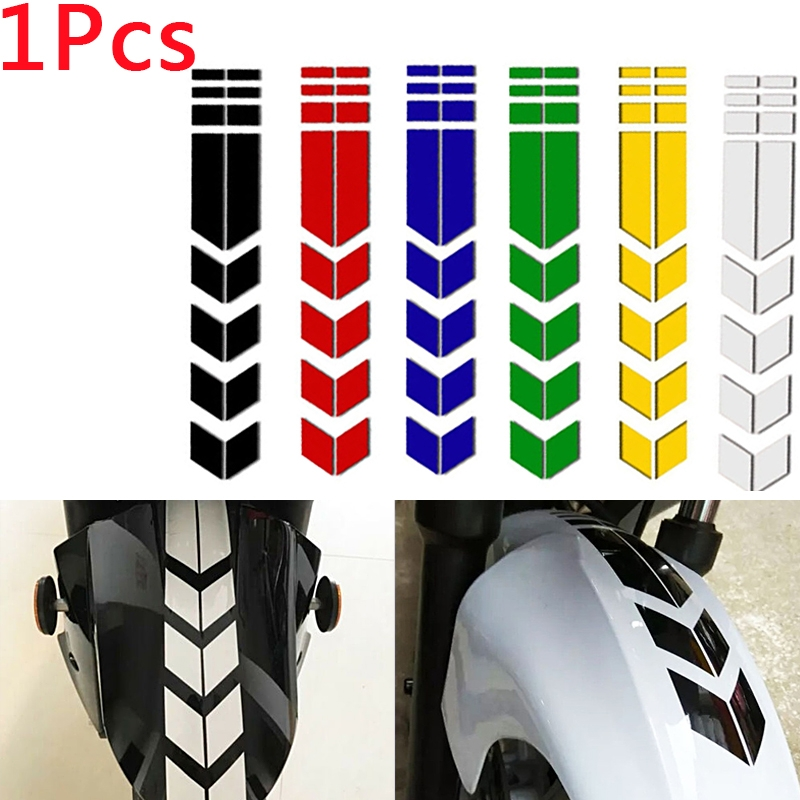 Motorcycle Arrow Reflective Decal Rim Stripe Wheel On Fender Tape Stickers Decor
