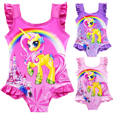 Summer, beach wear, kidsbikini, unicorn