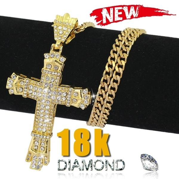Steel, DIAMOND, Jewelry, Cross Pendant