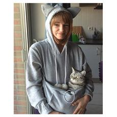 pawprint, Casual Hoodie, pullover hoodie, Long Sleeve