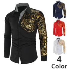 Summer, menfashionshirt, Shirt, gold