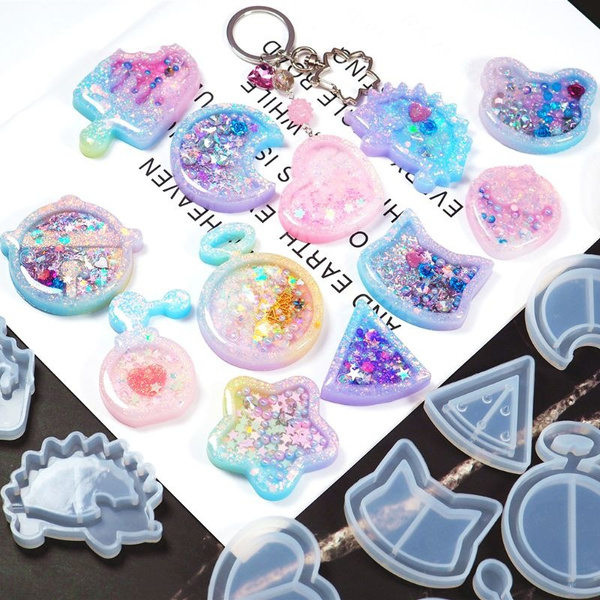 Pendant Star Moon Crystal Resin Mould Jewelry Making UV Epoxy Silicone Mold