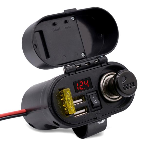 voltmetersocket, motorcyclecigarettelightercharger, Cigarettes, motorcyclecigarettelighter