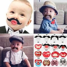 Funny, babypacifier, Silicone, dummybeard