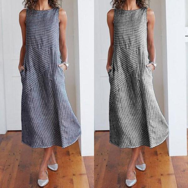 Summer, Plus Size, vest dress, Shirt